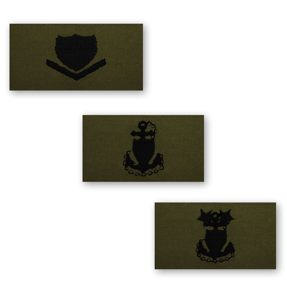 Coast Guard Embroidered Subdued Collar Insignia Enlisted Rank