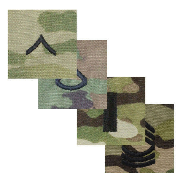 Army OCP Rank - Enlisted and Officer with Hook and Loop | USAMM