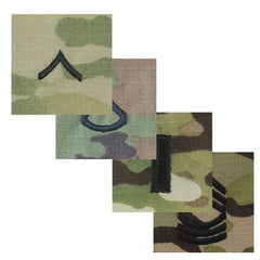 Army MultiCam (OCP) Sew-On Rank - Officer and Enlisted