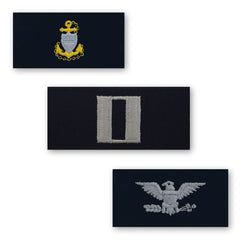 Coast Guard Embroidered Collar Insignia Rank - Enlisted and Officer