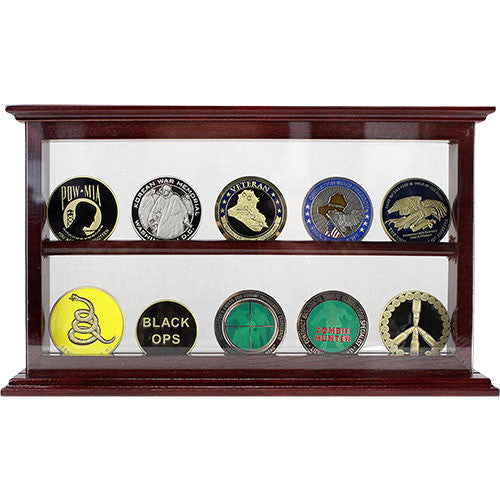 2 Row Coin Stand - Cherry