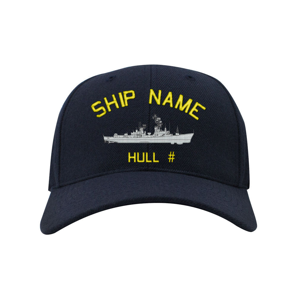 U.S. Navy Custom Ship Caps - Navy Blue