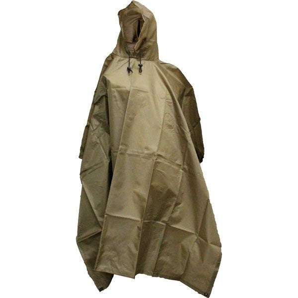 Coyote Brown Enhanced Rip-Stop Poncho