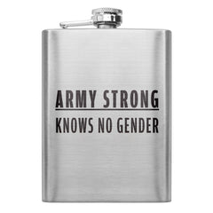 Army Strong Knows No Gender Text 8 oz. Flask