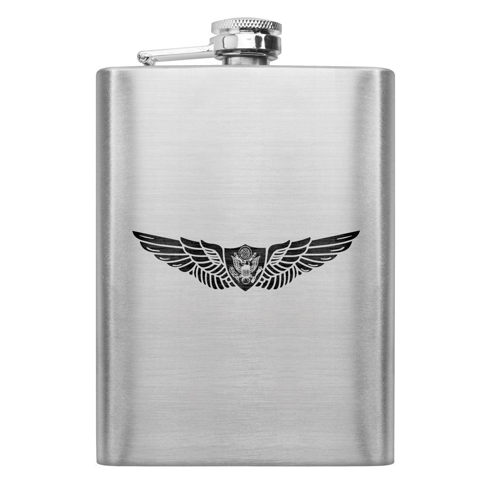 Army Subdued Badge 8 oz. Flasks