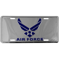 Air Force New Wing Chrome License Plate