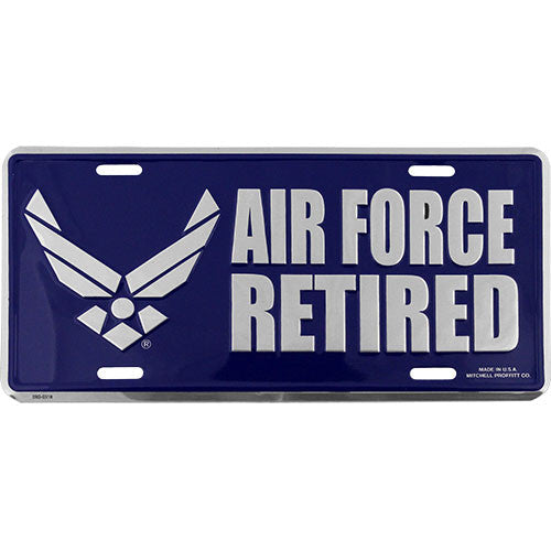 Air Force New Wing Retired License Plate