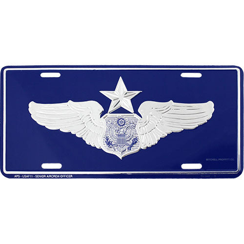 Air Force Senior Aircrew Officer License Plate