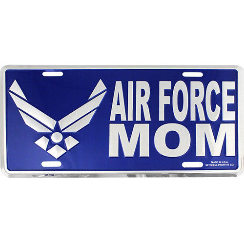 Air Force Mom Blue License Plate