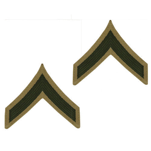 Marine Corps Embroidered Khaki Enlisted Rank - Female Size