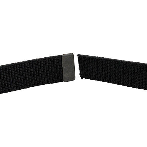Army Dress Belt - Black Cotton With Black Tip - Male Size