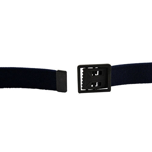 Army Dress Belt - Black Elastic With Brass Buckle