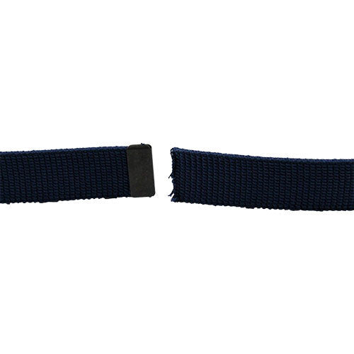 Air Force Dress Belt - Blue Cotton With Black Tip