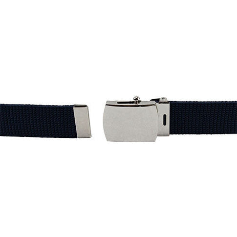 Air Force Dress Belts - Blue Elastic With Mirror Finish Buckle
