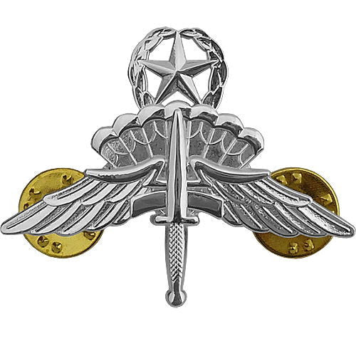 Military Free Fall Jumpmaster Parachute (HALO Wings) Badge