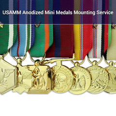 USAMM Anodized Miniature Medals Mounting Service