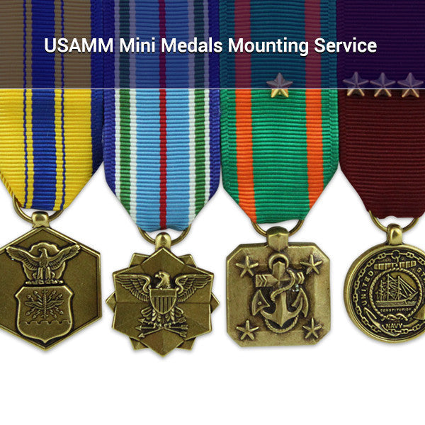 USAMM Miniature Medals Mounting Service