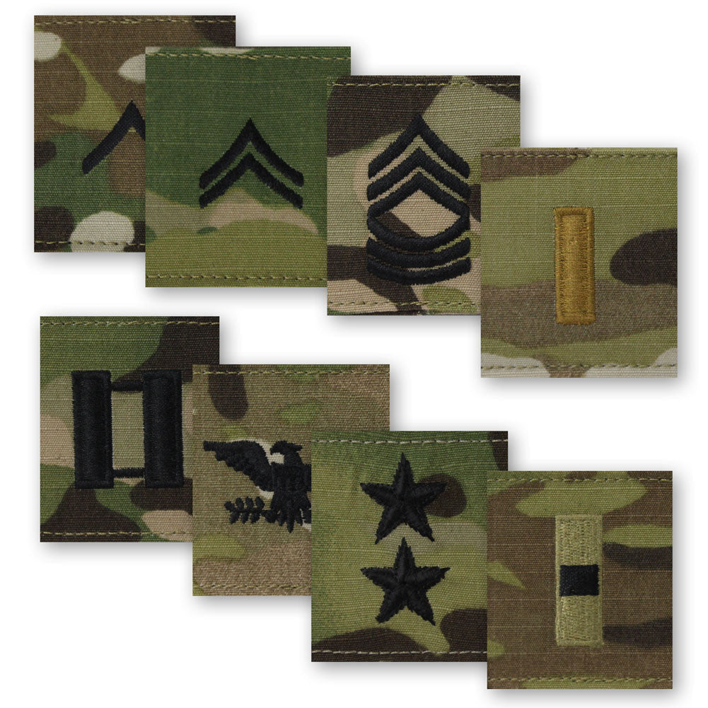 Army MultiCam (OCP) GORE-TEX Rank Slide On - Enlisted and Officer