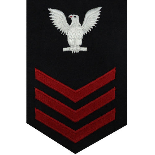 Navy E-4/5/6 Petty Officer Rating Badge - Black Utility Jacket