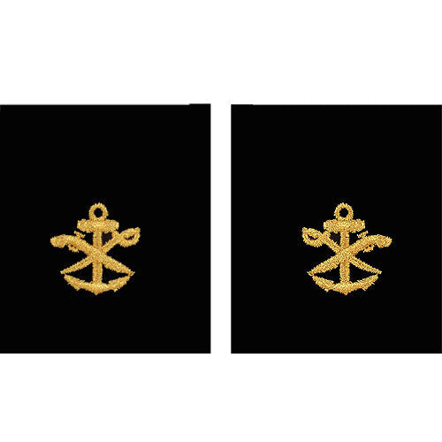 Navy Gold on Black Sleeve Device - Special Warfare Combat Craft Crew