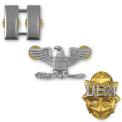 Navy Collar Insignia Rank - Pairs