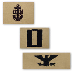Navy Embroidered Desert Sand Collar Insignia Rank - Enlisted and Officer
