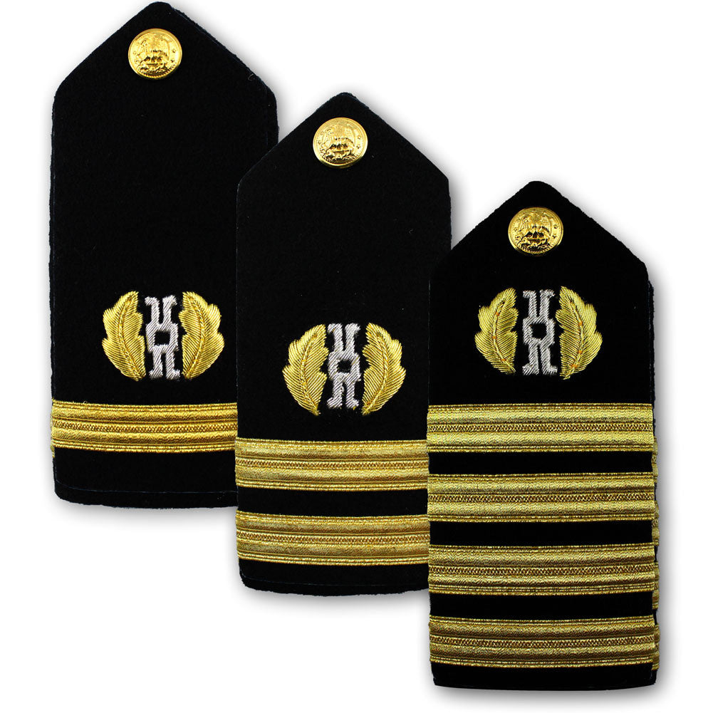 Navy Male Hard Shoulder Board - Judge Advocate