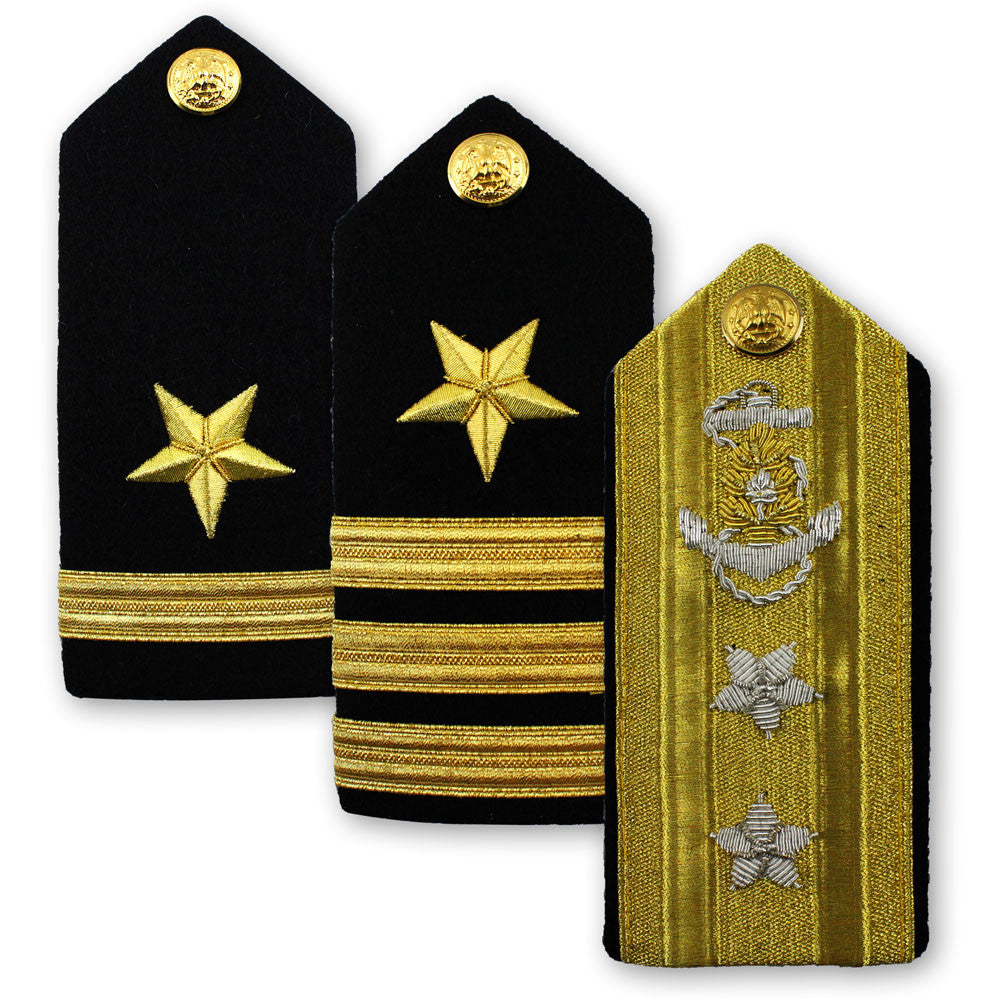 Navy Male Hard Shoulder Board - Line