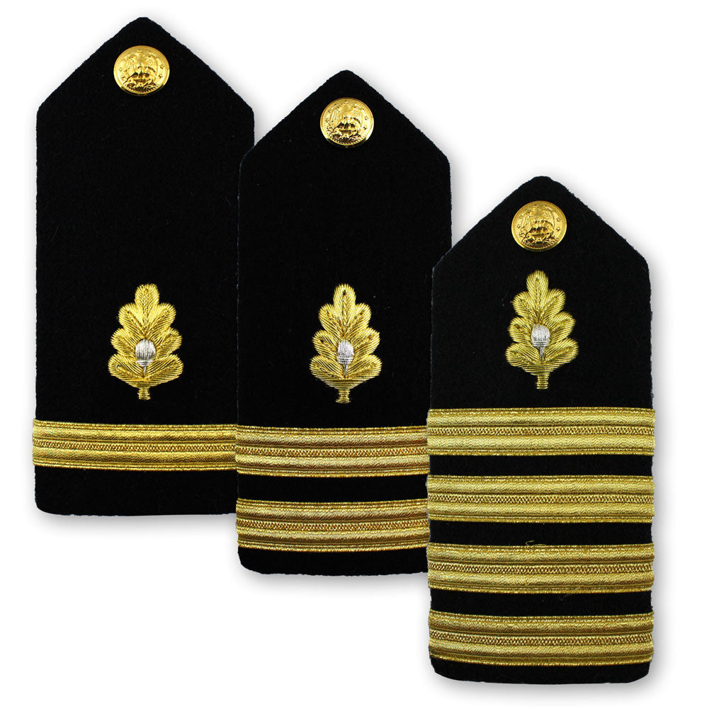 Navy Male Hard Shoulder Board - Medical Corps