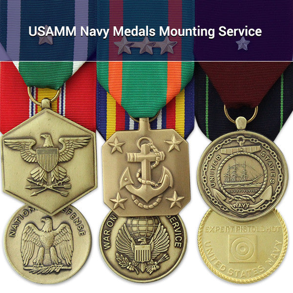 USAMM Navy Medals Mounting Service