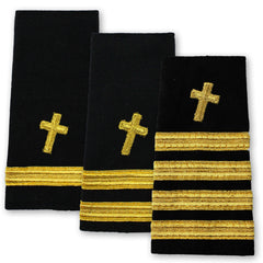 Navy Soft Shoulder Marks - Christian Chaplain