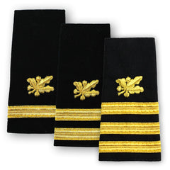Navy Soft Shoulder Marks - Supply Corps