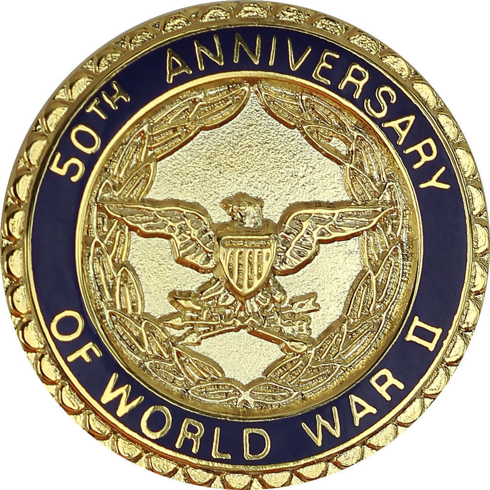 World War II 50th Anniversary Commemorative Lapel Pin