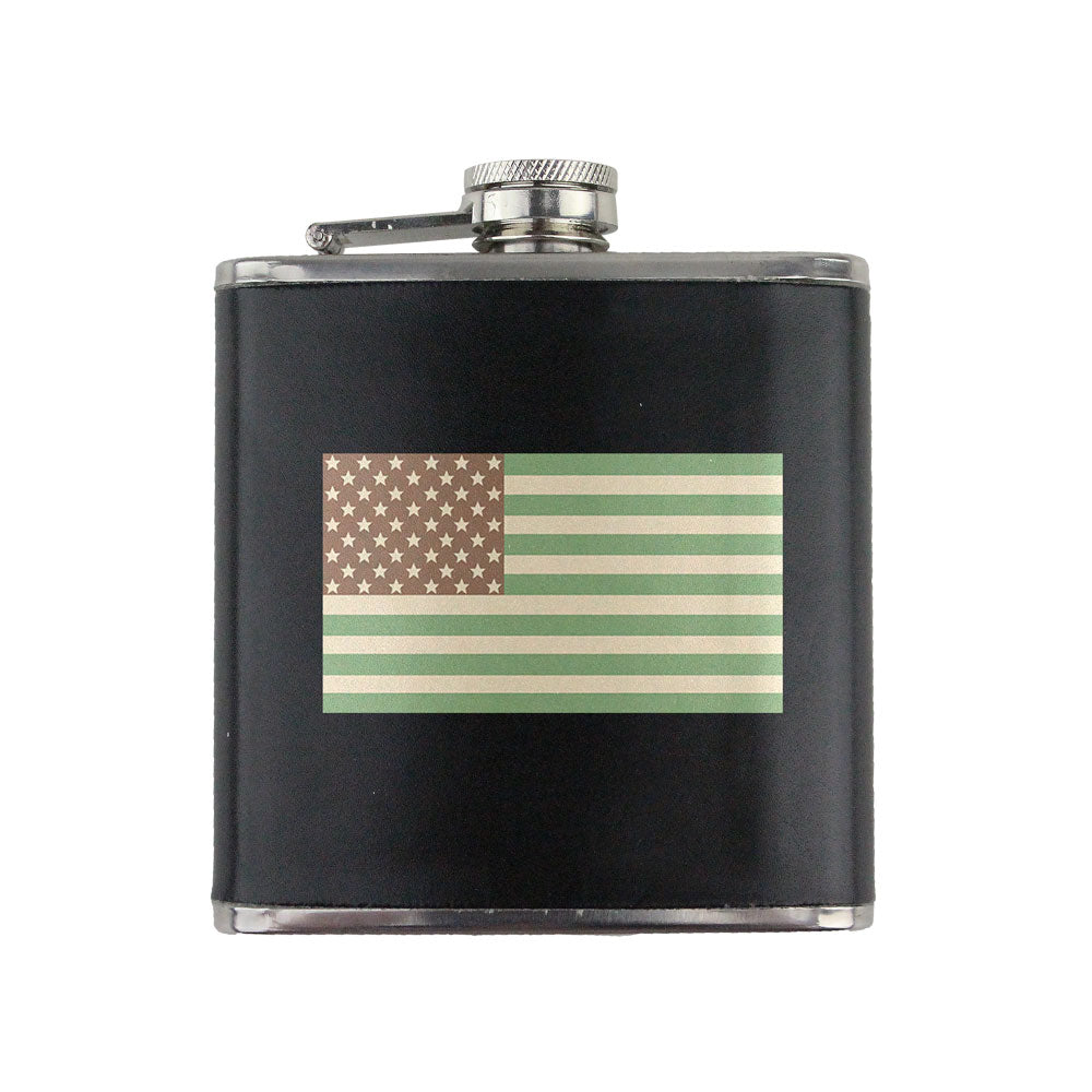 Desert U.S. Flag 6 oz. Flask with Wrap