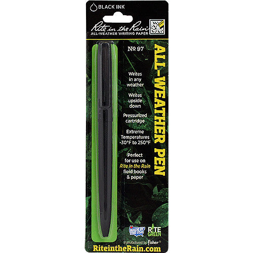 Rite in the Rain All-Weather Tactical Black Clicker Pen - Black Ink