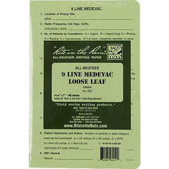 Rite in the Rain All-Weather Tactical Green Loose Leaf 9-Line MEDEVAC Binder Sheets - 100 Sheet Pack