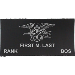 Navy Uniform Leather Nametag - Enlisted (E6 and below)