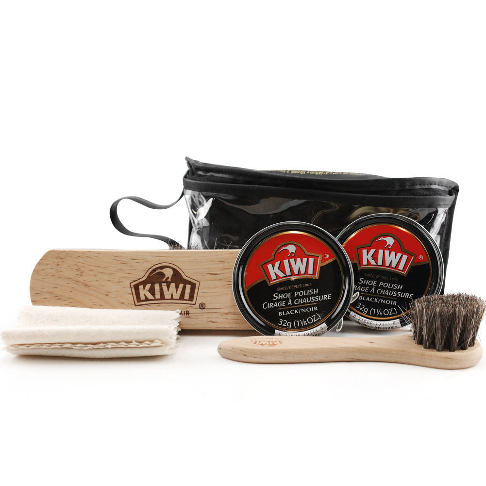 KIWI Black Shoe Care Kit