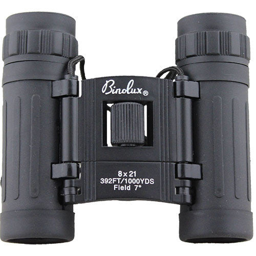 Black Compact 8 x 21 mm Binoculars