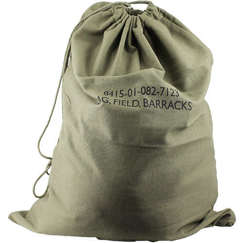 Government Issue Olive Drab Laundry Barracks Bag Usamm
