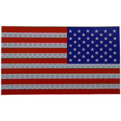 Full Color Infrared U.S. Flag Patch - Reverse