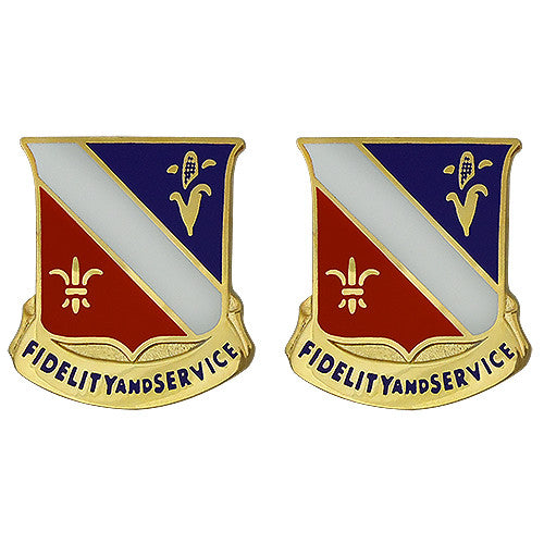 350th Regiment Unit Crest (Fidelity And Service)