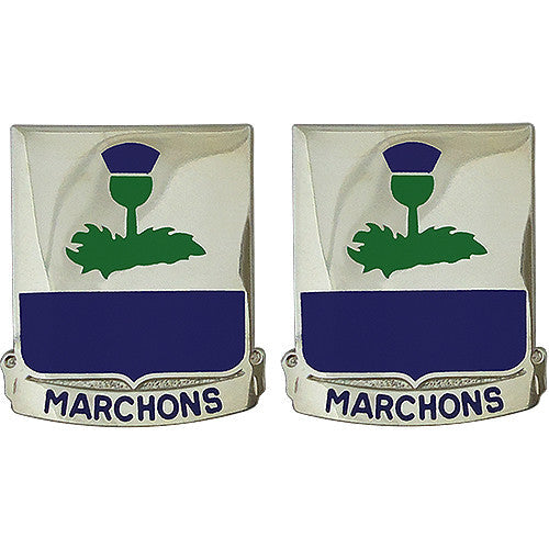 338th Regiment Advanced Individual Training Unit Crest (Marchons)