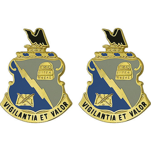 341st Military Intelligence Battalion Unit Crest (Vigilantia Et Valor)