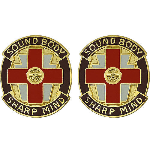 338th Medical Brigade USAR Unit Crest (Sound Body Sharp Mind)