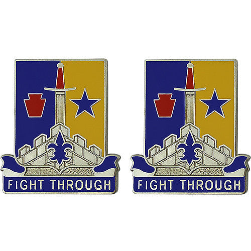 Special Troops Battalion, 55th Brigade Combat Team, 28th Infantry Division Unit Crest (Fight Through)