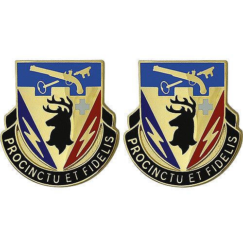 572nd Engineer Battalion Unit Crest (Procinctu Et Fidelis)