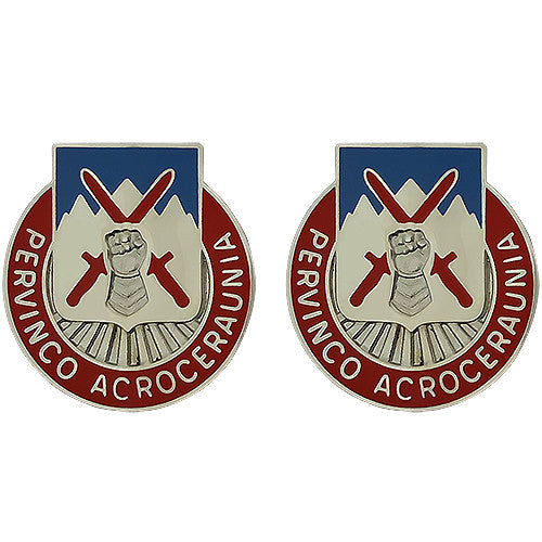Special Troops Battalion, 10th Mountain Division Unit Crest (Pervinco Acroceraunia)