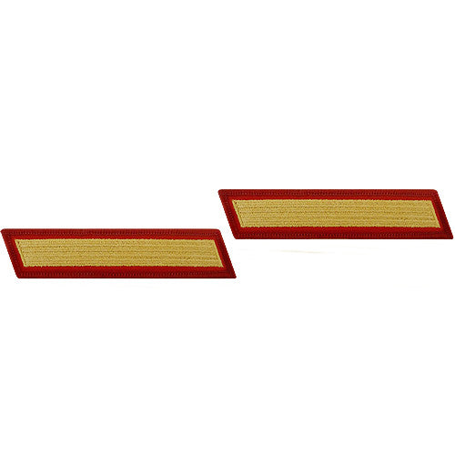 U.S. Marine Corps Gold on Red Service 1-Stripe (Male Size) - Pair