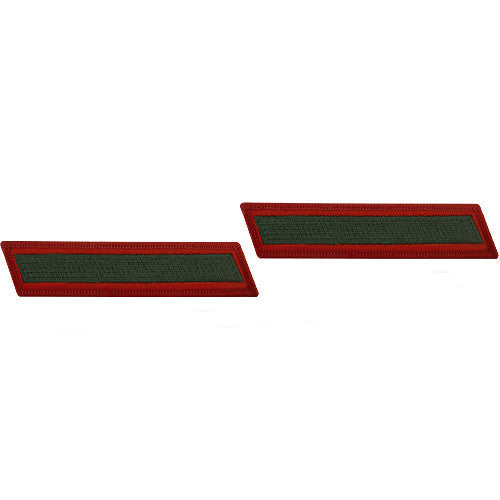 U.S. Marine Corps Green on Red Service 1-Stripe (Male Size) - Pair